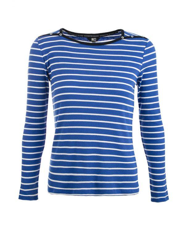 RW shirt Jill kobalt-offwhite