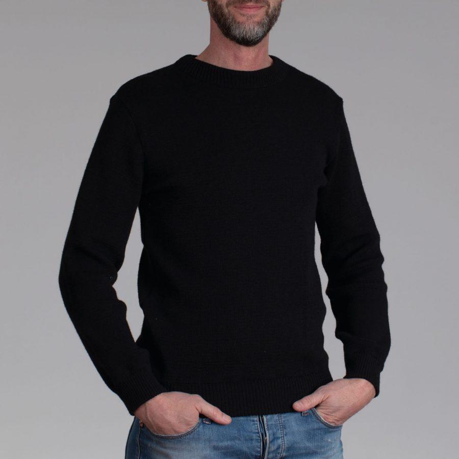 Friese ronde hals trui black