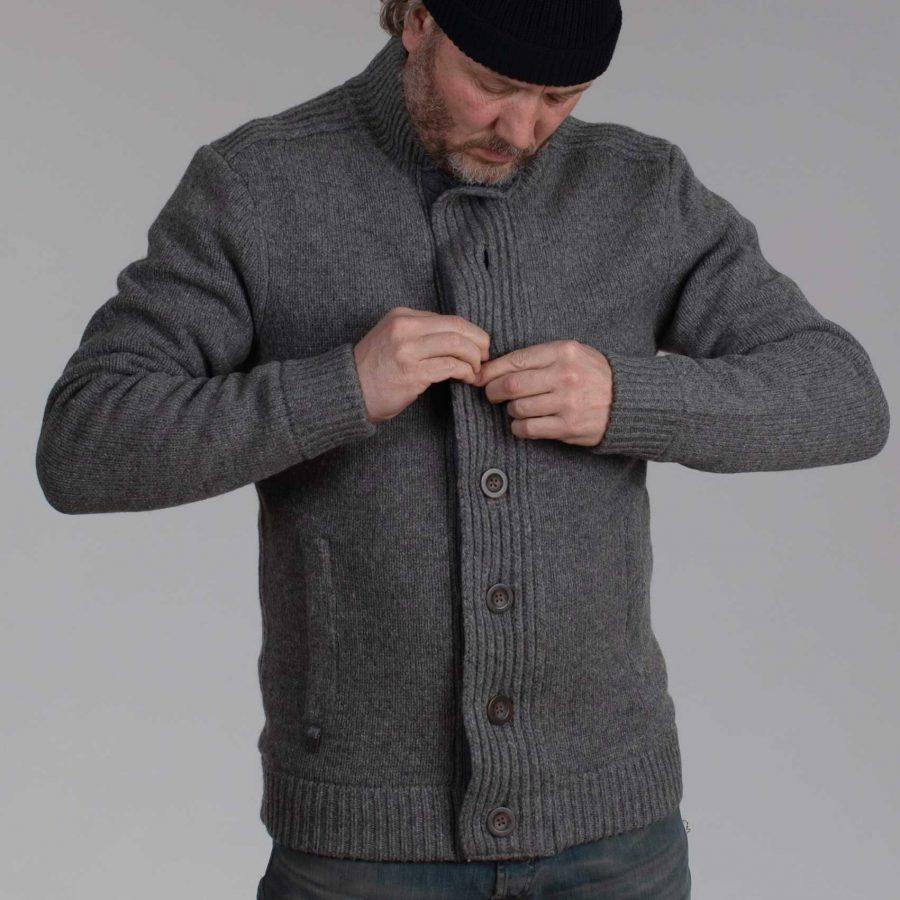 Brett gevoerd vest grey