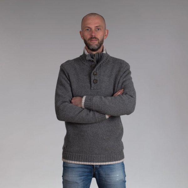 Nate gevoerde trui grey