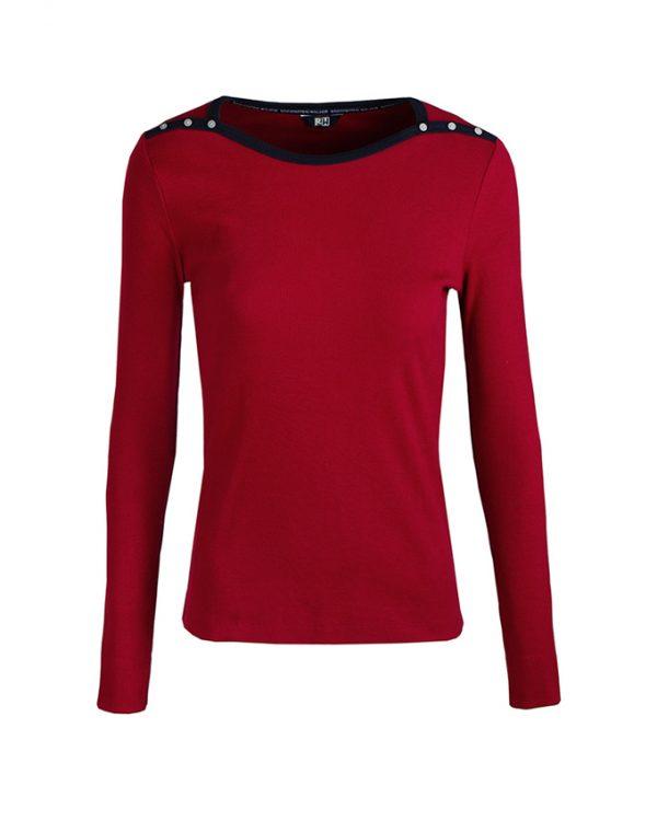 RW shirt ella burgundy