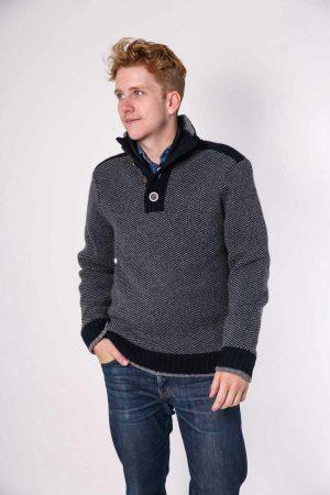 nate pullover grey navy