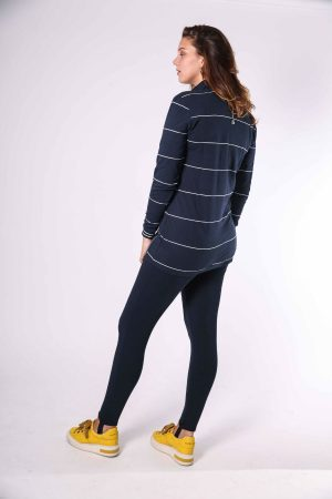 suzy sweater navy white