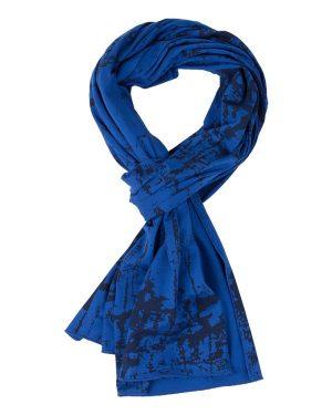 RW sjaal Marmer royal blue