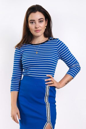 jillian top blue