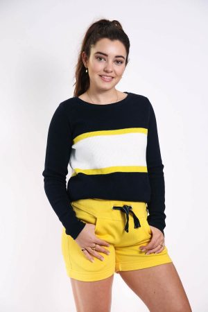 floor sweater yellow stripe
