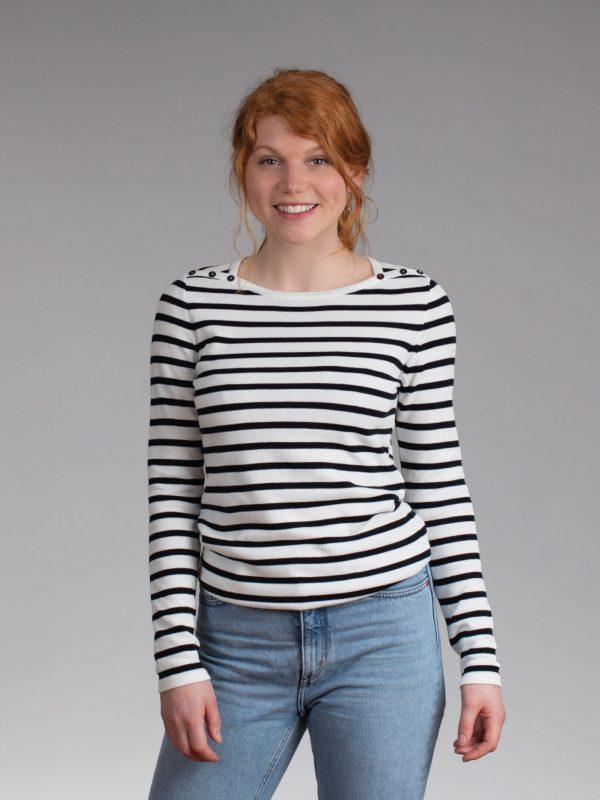 Nynke shirt offwhite navy