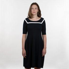 Feddau jurk navy ow voorkant