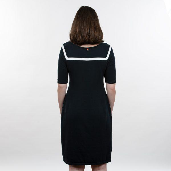 Feddau jurk navy ow achterkant