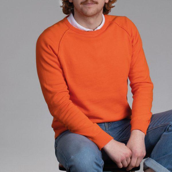 Rein ronde hals trui orange