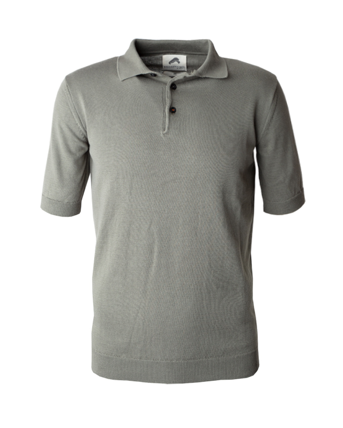 Roosenstein Wolke Seppe knitted polo army (XL)