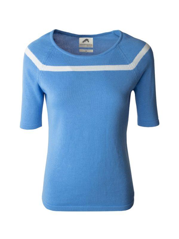 Tialda gebreid T-shirt-voorkant-sky-offwhite