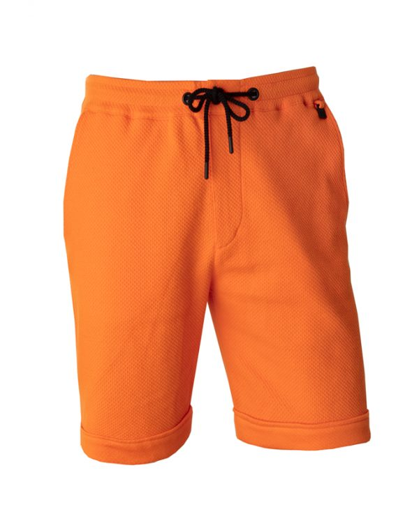 Beint short voorkant orange