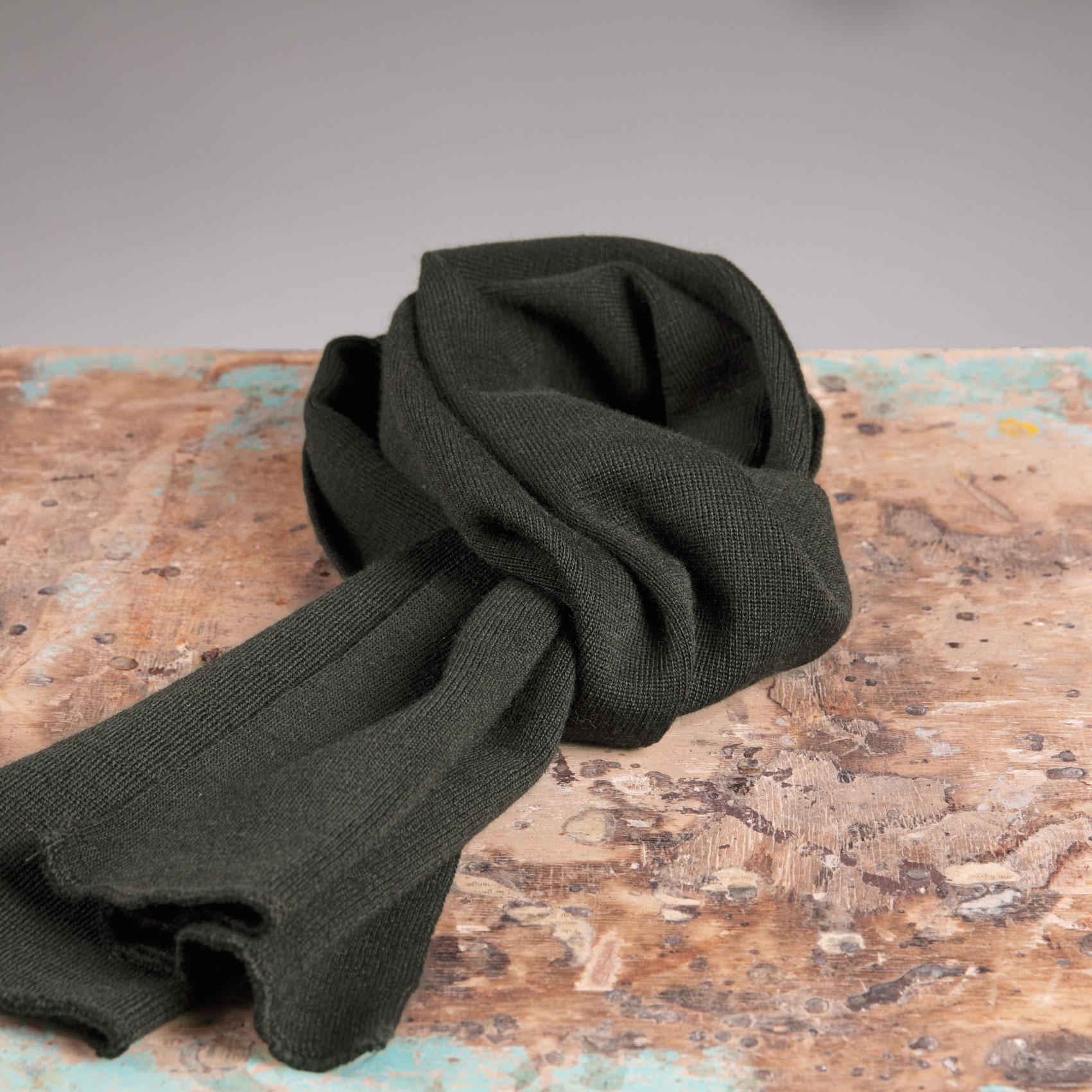 Roosenstein Wolke Friese sjaal 100% wol Loden green