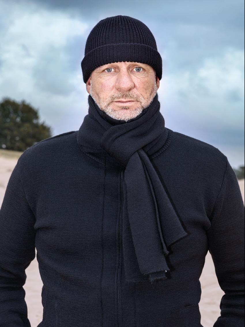 Roosenstein Wolke Friese sjaal 100% wol navy